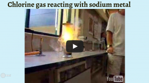 sodium and chlorine react