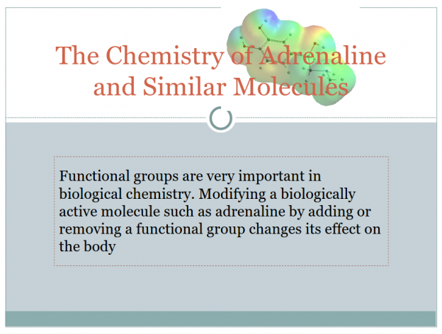 Structure of adrenaline and amphetamine PowerPoint
